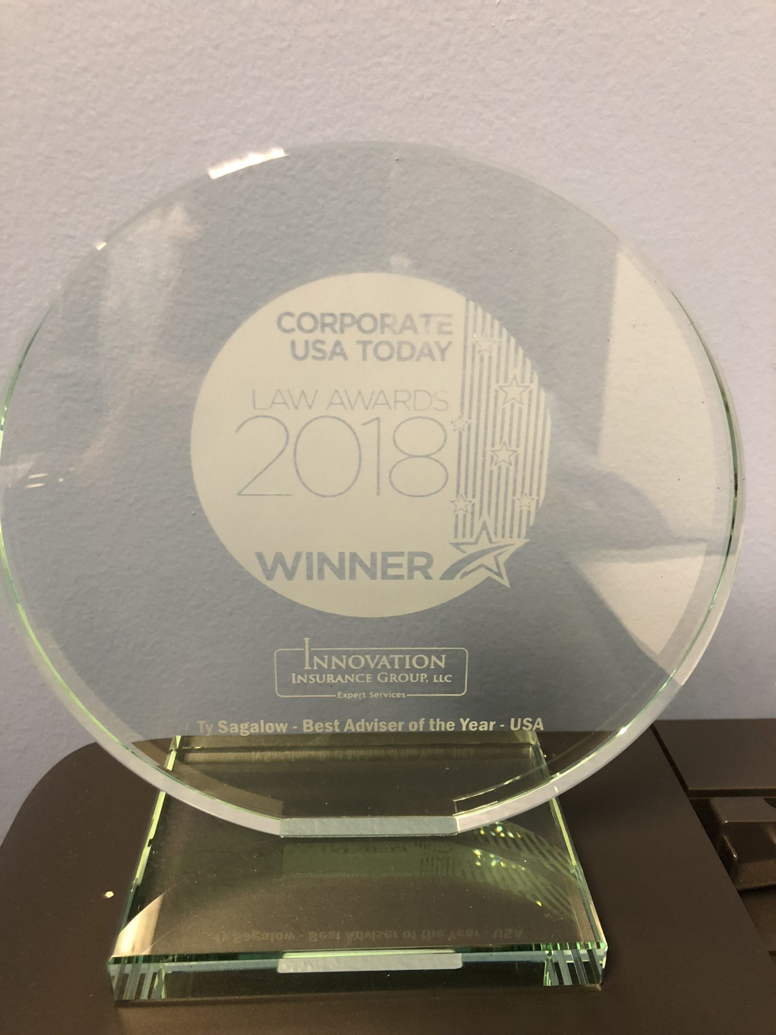 2018 Best Advisor of the Year - Corporate USA Today